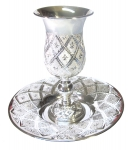 Extra Large Goblet of Eliyahu Hanavi - Diamond Cut