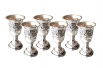 6 Liqueur Goblets - Shlomo Droplets