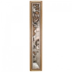 Light Teak Wood Waterproof Mezuzah Case - 12cm