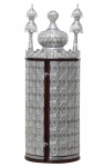 Diamond Cut Crown Torah Case