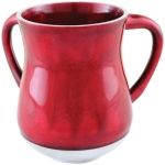 Elegant Aluminum Washing Cup - Dark Red Glitter