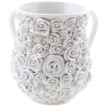 Floral Polyresin Washing Cup