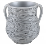 Small Polyresin Washing Cup 11 cm - Silver Grey